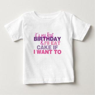 Jag ska äter tårtan, om jag önskar till den 1st tee shirts