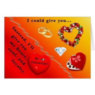 Jag ska ge dig min hjärta, soul och lojalitet hälsningskort