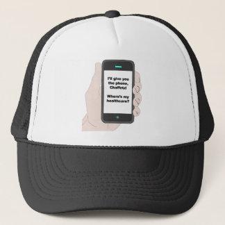 Jag ska ge dig telefonen, var är min sjukvård? truckerkeps