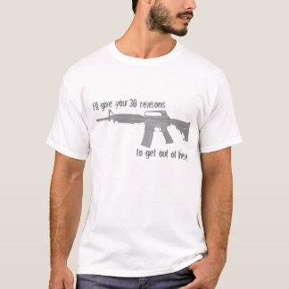 Jag ska ge som dig, resonerar 30, för att få ut t-shirt