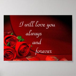 Jag ska kärlek dig alltid och för evigt poster