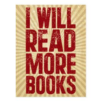 Jag ska läste mer bokar vykort