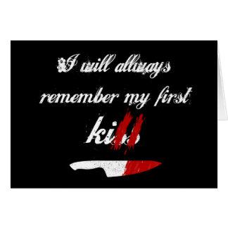 Jag ska minns alltid min första döda (svarten) hälsningskort