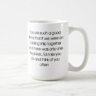 Jag ska miss som du rånar kaffemugg
