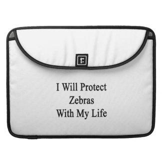 Jag ska skyddar zebror med mitt liv MacBook pro sleeves