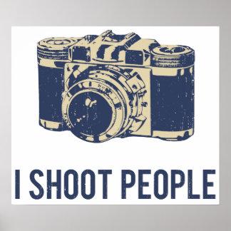 Jag skjuter folk fotografikamera affisch