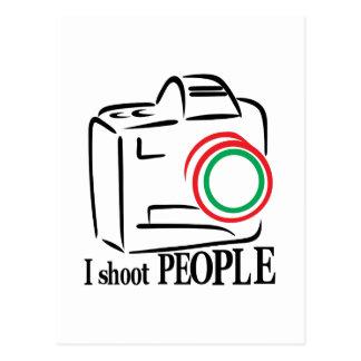 Jag skjuter folk vykort