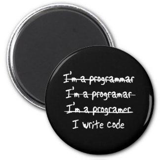 Jag skriver kodifierar magnet rund 5.7 cm