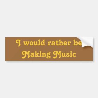 Jag skulle är ganska danandemusik bildekal