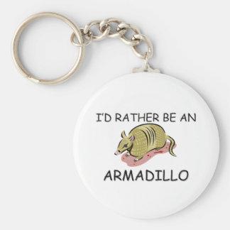 Jag skulle är ganska en bältdjur rund nyckelring