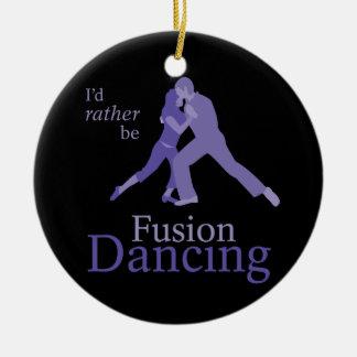 Jag skulle är ganska fusiondansen julgransprydnad keramik