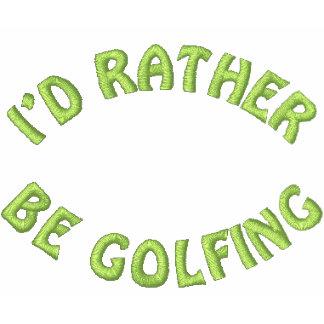 Jag skulle är ganska golfspelet broderade Golfskjo Polo Tröja