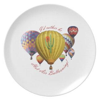 Jag skulle är ganska hettluft som ballongflygande  tallrik