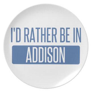 Jag skulle är ganska i Addison Tallrik