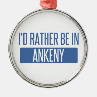 Jag skulle är ganska i Ankeny Julgransprydnad Metall