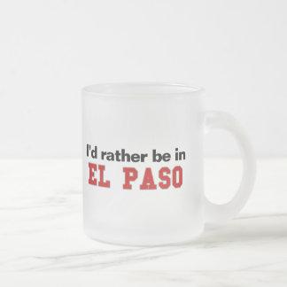 Jag skulle är ganska i El Paso Frostad Glasmugg