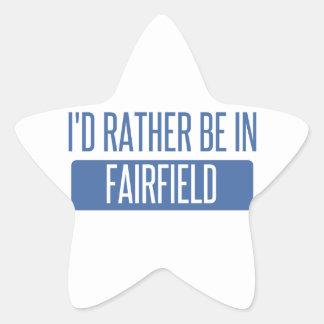 Jag skulle är ganska i Fairfield CA Stjärnformat Klistermärke