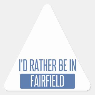 Jag skulle är ganska i Fairfield CA Triangelformat Klistermärke