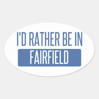 Jag skulle är ganska i Fairfield OH Ovalt Klistermärke