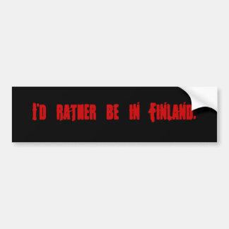 Jag skulle är ganska i Finland. Bildekal