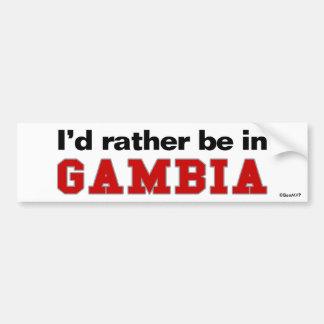 Jag skulle är ganska i Gambia Bildekal