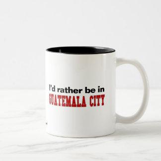 Jag skulle är ganska i Guatemala City Två-Tonad Mugg