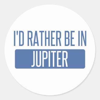 Jag skulle är ganska i Jupiter Runt Klistermärke