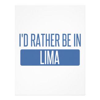 Jag skulle är ganska i Lima Brevhuvud