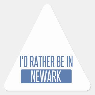 Jag skulle är ganska i Newark CA Triangelformat Klistermärke