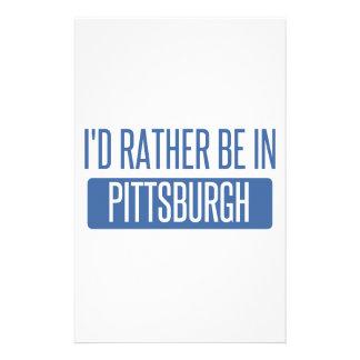 Jag skulle är ganska i Pittsburgh Brevpapper