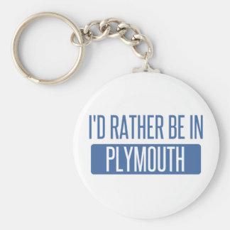 Jag skulle är ganska i Plymouth Rund Nyckelring