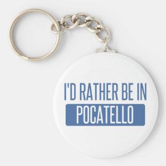 Jag skulle är ganska i Pocatello Rund Nyckelring