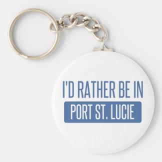 Jag skulle är ganska i port St Lucie Rund Nyckelring
