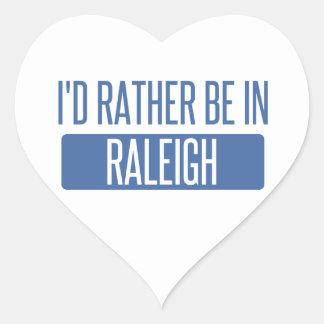Jag skulle är ganska i Raleigh Hjärtformat Klistermärke