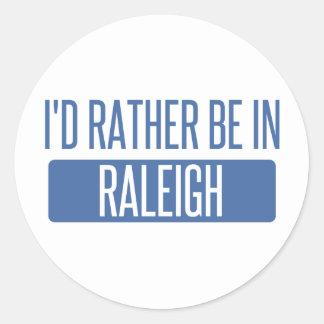 Jag skulle är ganska i Raleigh Runt Klistermärke