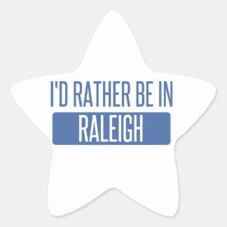 Jag skulle är ganska i Raleigh Stjärnformat Klistermärke