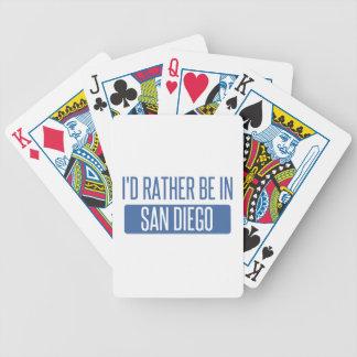 Jag skulle är ganska i San Diego Spelkort