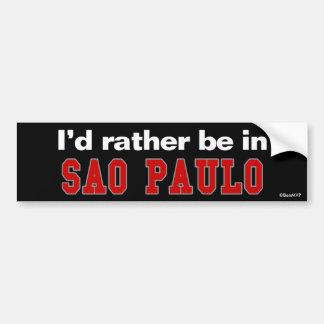 Jag skulle är ganska i Sao Paulo Bildekal