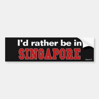Jag skulle är ganska i Singapore Bildekal