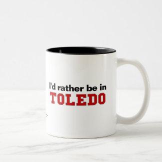 Jag skulle är ganska i Toledo Två-Tonad Mugg