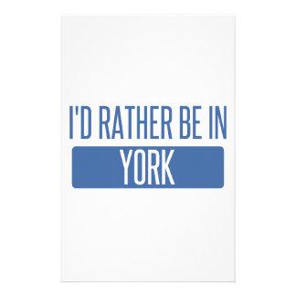 Jag skulle är ganska i York Brevpapper