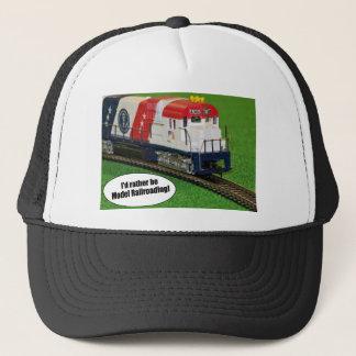 Jag skulle är ganska modellerar att resa med tåg! keps