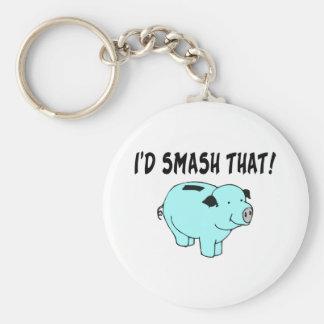 Jag skulle dundersuccé som Piggy Rund Nyckelring