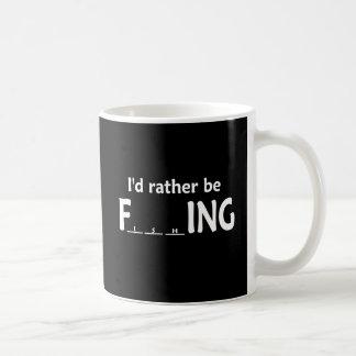 Jag skulle fiskar ganska - roligt fiske kaffemugg