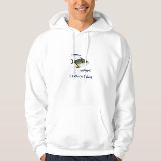 Jag skulle fiskar ganska, tre fiskar, det roliga sweatshirt
