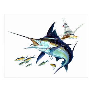 Jag skulle fiskar ganska! vykort