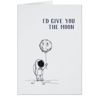 Jag skulle ge dig måneastronautet hälsningskort