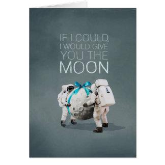 Jag skulle ge dig månen hälsningskort