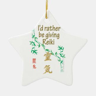 Jag skulle ger ganska Reiki Julgransprydnad Keramik