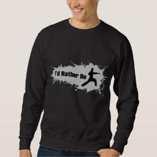Jag skulle gör ganska Karate Sweatshirt